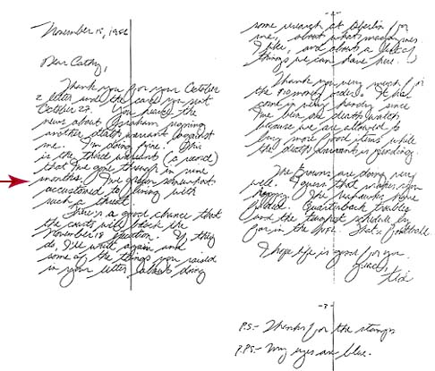 Ted Bundy Handwriting Sample