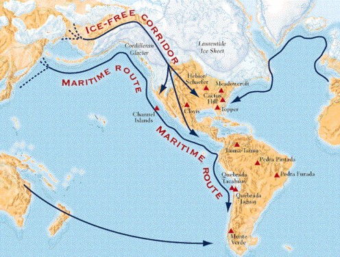 Peopling the Americas -- New evidence
