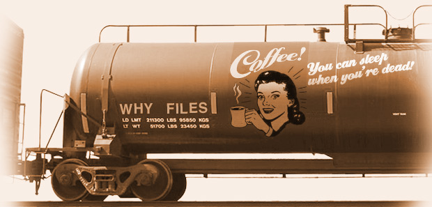 Drink Coffee ad on train tanker car