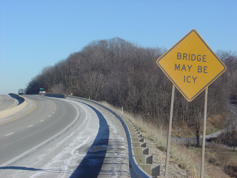 Why do bridges ice before the road?
