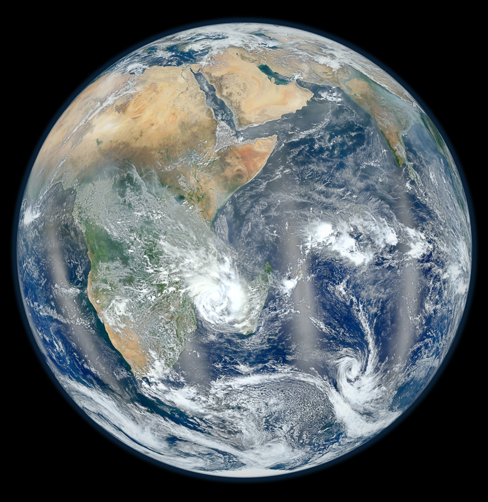 View of Earth's Eastern Hemisphere from space.