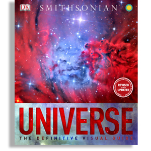 Book cover title is 'Universe: The Definitive Visual Guide' title=