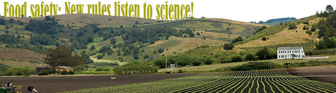 Food safety: image of farmland at base of hillside