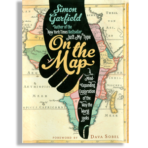 Book cover: On the Map, by Simon Garfield