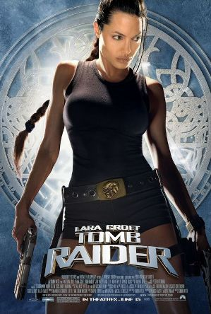 Film poster of Lara Croft: Tomb Raider.