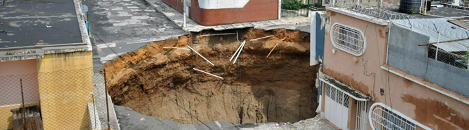 photo of giant sinkhole