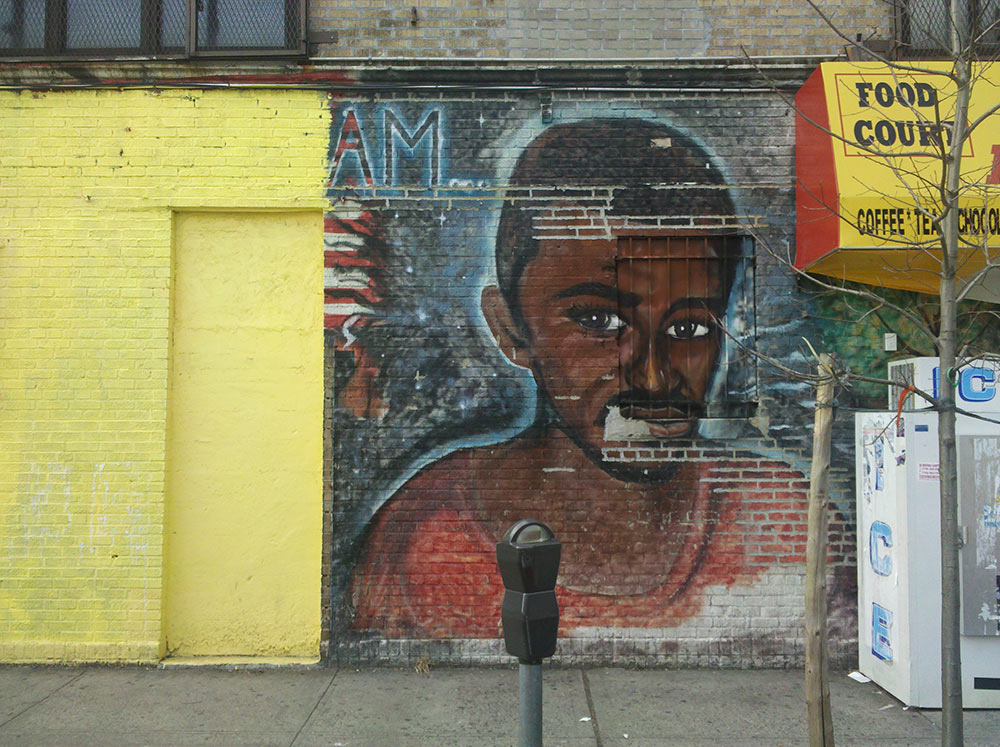 Mural depicts Amadou Diallo