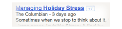 google search for managing holiday stress