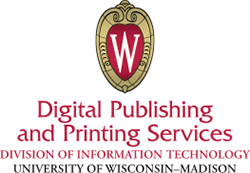 Digital Publishing and Printing Services Division of Information Technology, University of Wisconsin-Madison (logo)