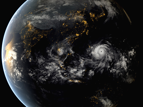 Hurricanes, typhoons moving away from equator